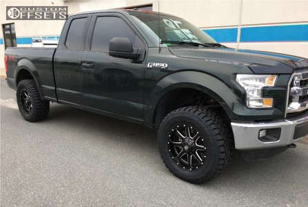 """2016 Ford F-150 - 18x9 1mm - Fuel 538 - Leveling Kit - 33"""" x 12.5"""""""