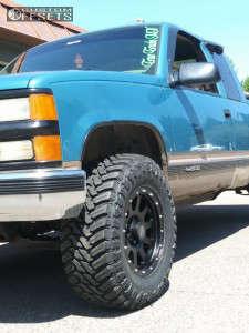 "1998 Chevrolet K1500 - 17x9 -12mm - Mb Wheels 352 - Stock Suspension - 33"" x 12.5"""