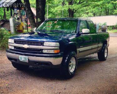 2002 Chevrolet Silverado 1500 - 16x10 -38mm - Alloy Ion Style 171 - Stock Suspension - 305/70R16