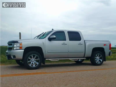 2011 Chevrolet Silverado 1500 - 20x9 0mm - Raceline Assault - Leveling Kit - 265/75R20
