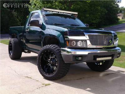 "2005 Chevrolet Colorado - 20x12 -44mm - TIS 535mb - Leveling Kit - 33"" x 12.5"""
