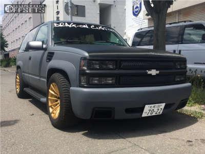 1992 Chevrolet Blazer - 18x10.5 15mm - Shotgun Rsz - Lowered 3F / 5R - 285/55R18