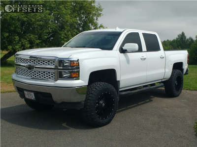 "2014 Chevrolet Silverado 1500 - 20x10 -19mm - Dropstars 645b - Suspension Lift 6"" - 295/65R20"