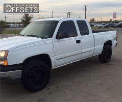 "2004 Chevrolet Silverado 1500 - 17x9 0mm - Black Rhino Lucerne - Stock Suspension - 32"" x 10.5"""
