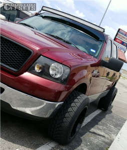 """2006 Ford F-150 - 20x12 -44mm - American Truxx Warrior - Leveling Kit - 32"""" x 12.5"""""""