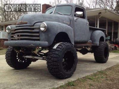 "1949 Chevrolet K20 - 20x14 -76mm - Scorpion Sc17 - Suspension Lift 8"" - 38"" x 15.5"""