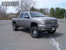 "2013 Chevrolet Silverado 1500 - 20x9 -19mm - BMF REPR - Suspension Lift 6"" - 295/55R20"