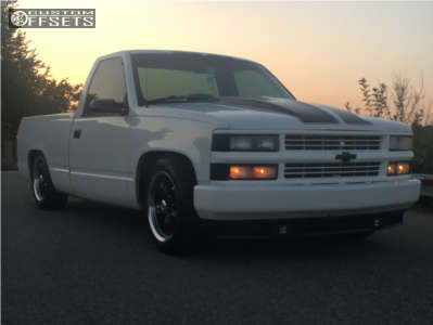 1993 Chevrolet C1500 - 18x8.5 10mm - Vision Legend 5 - Lowered 4F / 6R - 235/55R18