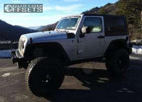 "2008 Jeep Wrangler - 16x8 -6mm - Cragar Soft 8 - Suspension Lift 3"" - 315/75R16"