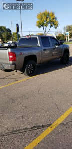 "2012 Chevrolet Silverado 1500 - 20x10 -24mm - Moto Metal MO970 - Suspension Lift 3.5"" - 305/55R20"