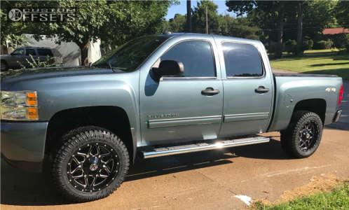 "2011 Chevrolet Silverado 1500 - 20x10 -19mm - Scorpion Sc16 - Suspension Lift 4"" - 33"" x 12.5"""