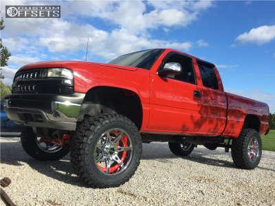 "1999 Chevrolet Silverado 1500 - 20x10 -24mm - Moto Metal Mo961 - Suspension Lift 6"" & Body 3"" - 35"" x 12.5"""