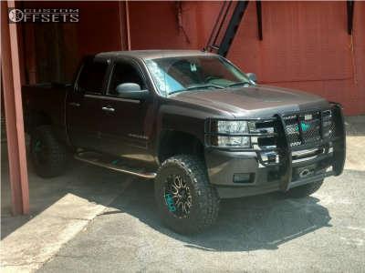 "2010 Chevrolet Silverado 1500 - 18x9 -12mm - Helo He879 - Suspension Lift 6"" - 35"" x 12.5"""
