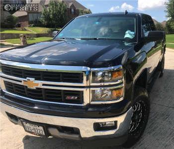 "2014 Chevrolet Silverado 1500 - 18x9 18mm - XD Xd820 - Suspension Lift 3"" - 295/70R18"