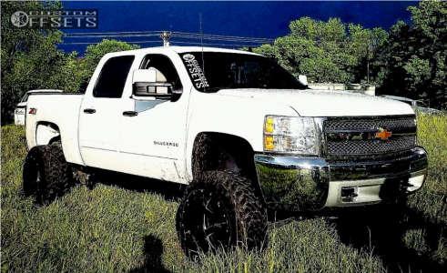"2013 Chevrolet Silverado 1500 - 22x14 -76mm - Moto Metal MO962 - Suspension Lift 7.5"" - 35"" x 12.5"""