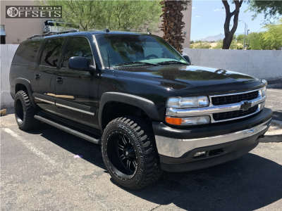"2005 Chevrolet K1500 Suburban - 20x12 -44mm - Red Dirt Road Rd01 - Leveling Kit - 33"" x 12.5"""