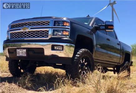 "2015 Chevrolet C1500 - 20x10 -25mm - Mayhem Warrior - Suspension Lift 7.5"" - 33"" x 12.5"""