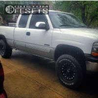 "2002 Chevrolet Silverado 1500 - 16x9 -12mm - Xd Addict - Stock Suspension - 33"" x 12.5"""