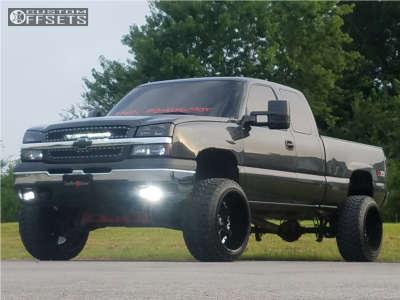 "2004 Chevrolet Silverado 1500 - 22x14 -76mm - Mayhem Missile - Suspension Lift 6"" - 33"" x 12.5"""