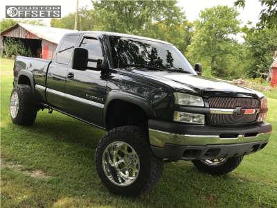 "2003 Chevrolet Silverado 1500 - 20x14 -73mm - American Force Shield Ss - Suspension Lift 6"" - 35"" x 12.5"""