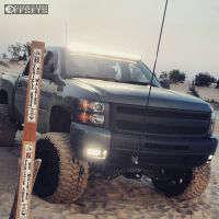 "2011 Chevrolet Silverado 1500 - 20x14 -76mm - Fuel Hostage - Lifted >9"" - 36"" x 15.5"""