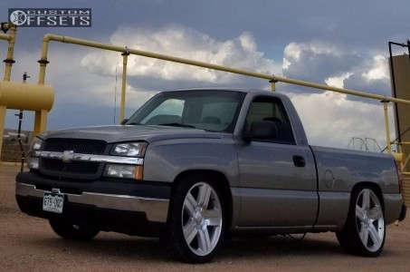 2003 Chevrolet Silverado 1500 - 22x9 31mm - Oe Performance 147 - Lowered 4F / 6R - 265/35R22