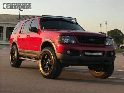 "2004 Ford Explorer - 18x9 -12mm - Fuel Sledge - Suspension Lift 2.5"" - 265/70R18"