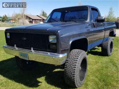 "1986 Chevrolet K10 - 20x12 -44mm - Red Dirt Road Thunder - Suspension Lift 4"" - 35"" x 12.5"""
