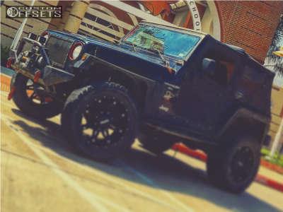 "1999 Jeep Wrangler - 20x12 -44mm - Dpr Gloc - Suspension Lift 5"" - 33"" x 12.5"""