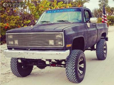 "1984 Chevrolet K10 - 17x9 -12mm - Dick Cepek Dc-2 - Suspension Lift 6"" & Body 3"" - 37"" x 12.5"""