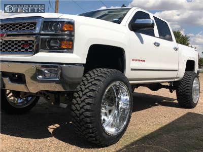 "2014 Chevrolet Silverado 1500 - 24x14 -73mm - American Force Trax Ss - Suspension Lift 10"" - 37"" x 13.5"""