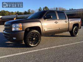 2011 Chevrolet Silverado 1500 - 20x9 0mm - Moto Metal MO962 - Leveling Kit - 265/50R20