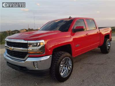 "2017 Chevrolet Silverado 1500 - 20x12 -44mm - Xd Xd820 - Suspension Lift 3.5"" - 33"" x 12.5"""