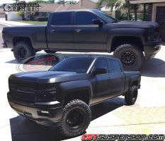 "2014 Chevrolet Silverado 1500 - 17x8.5 0mm - Method Double Standard - Suspension Lift 5"" - 35"" x 12.5"""