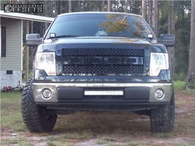 2014 Ford F-150 - 18x9 -12mm - Panther Offroad 579 - Leveling Kit - 275/70R18