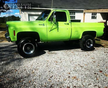 """1977 Chevrolet K10 - 16x10 -38mm - Alloy Ion Style 171 - Suspension Lift 4"""" - 33"""" x 12.5"""""""