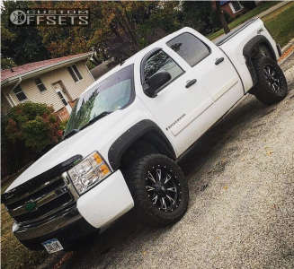 "2007 Chevrolet Silverado 1500 - 20x9 1mm - Fuel Throttle - Suspension Lift 3.5"" - 285/60R20"