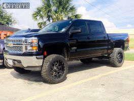 "2015 Chevrolet Silverado 1500 - 20x10 -24mm - Fuel Maverick - Suspension Lift 7.5"" - 35"" x 12.5"""