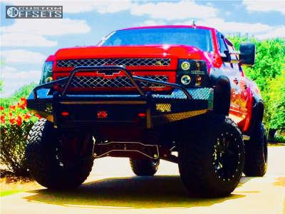 "2010 Chevrolet Silverado 1500 - 20x14 -75mm - Fuel Cleaver - Suspension Lift 9"" - 38"" x 13.5"""