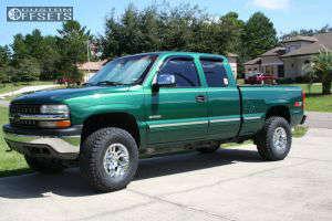"""1999 Chevrolet Silverado 1500 - 16x9 -12mm - Moto Metal Mo951 - Body Lift 3"""" - 305/70R16"""