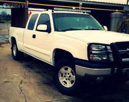 """2004 Chevrolet Silverado 1500 - 17x7.5 31mm - Spaced Out Stockers Spaced Out Stockers - Leveling Kit - 33"""" x 12.5"""""""