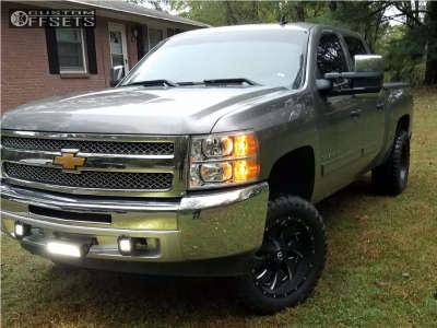 "2013 Chevrolet Silverado 1500 - 20x10 -19mm - Fuel Cleaver - Suspension Lift 3.5"" - 33"" x 12.5"""