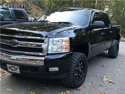 """2008 Chevrolet Silverado 1500 - 20x10 -12mm - Fuel Krank - Suspension Lift 3.5"""" - 33"""" x 12.5"""""""