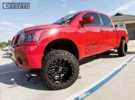 "2006 Nissan Titan - 18x12 -44mm - Fuel Maverick - Suspension Lift 4.5"" - 285/65R18"
