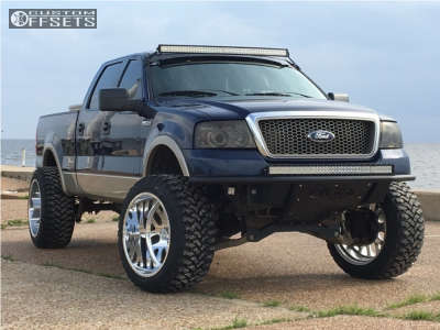 """2007 Ford F-150 - 24x14 -73mm - American Force Elite Ss - Suspension Lift 8.5"""" - 37"""" x 13.5"""""""