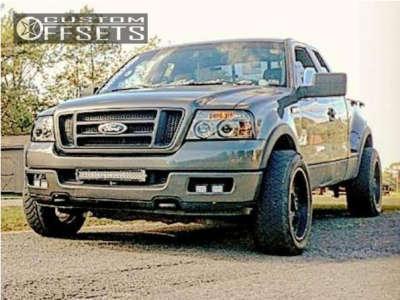 "2005 Ford F-150 - 20x9 12mm - Vision Rocker - Level 2"" Drop Rear - 275/55R20"