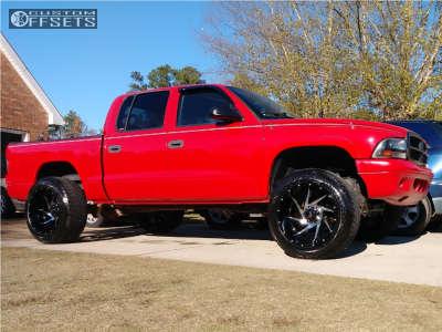 2004 Dodge Dakota - 20x12 -44mm - Red Dirt Road Vortex - Leveling Kit - 275/55R20