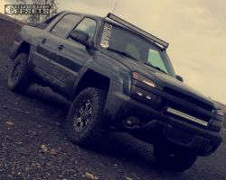 "2002 Chevrolet Avalanche - 17x8 20mm - Tuff T03 - Suspension Lift 3"" - 295/70R17"