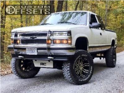 "1996 Chevrolet K1500 - 18x9 -12mm - American Eagle 79 - Suspension Lift 4"" - 305/70R18"