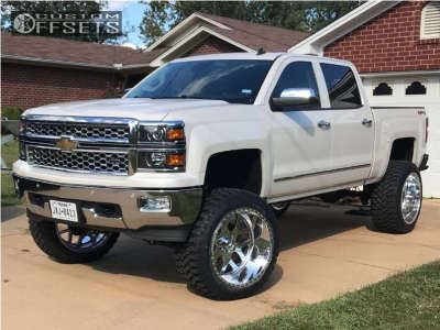"2014 Chevrolet Silverado 1500 - 24x14 -73mm - American Force Shield Ss - Suspension Lift 9"" - 37"" x 13.5"""